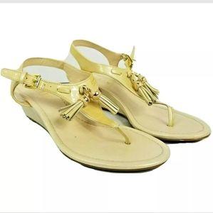 Ralph Lauren Leann Patent Leather Sandals 6